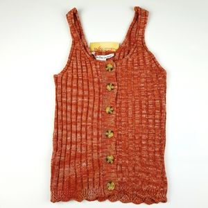 American Rag button-up knitted top